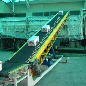 băng tải chuyển hàng lên xe container